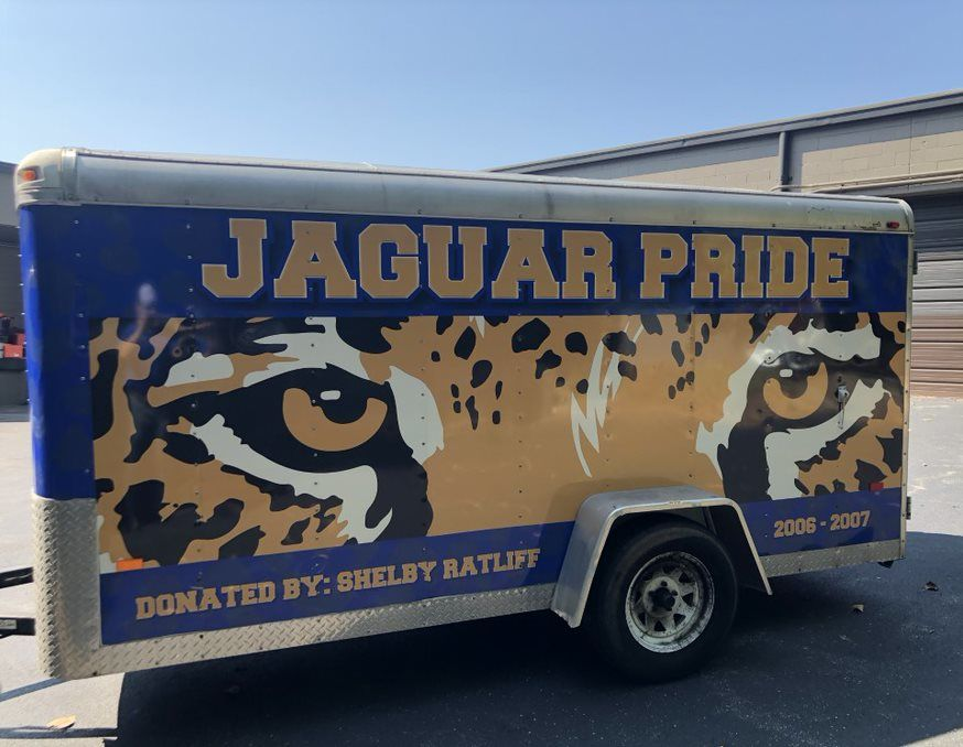 School Spirit vehicle wrap