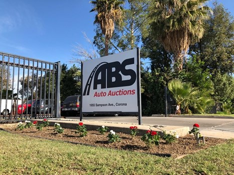 Aluminum Post & Panel Sign for ABS Auto Auctions in Corona, CA  Image360 Corona