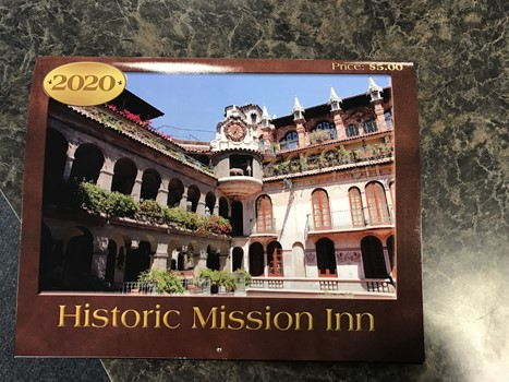 2020 Calender for the Historic Mission Inn