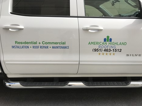 Vehicle decals for American Highland in Corona, CA