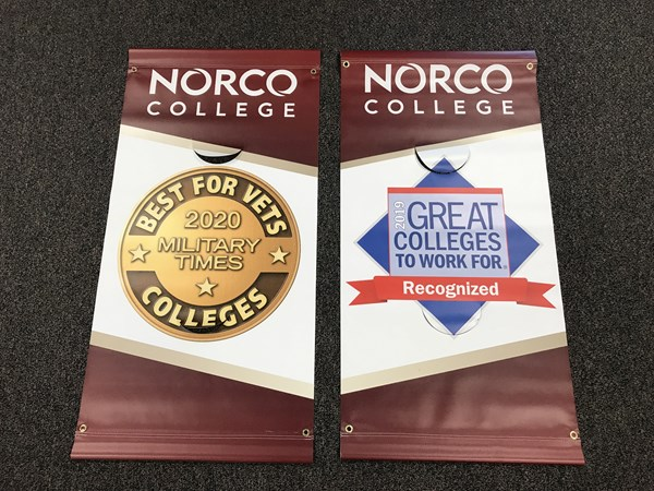 Street Pole Banners for Norco College