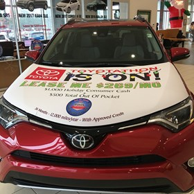 Sparks Toyota Toyotathon Removable Car Hoodie